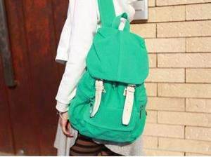 New Green Girls Canvas Satchels Backpack Bookbag FB148c