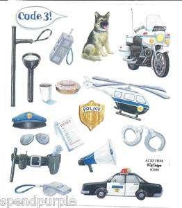 Police NRN Designs Scrapbooking Sticker