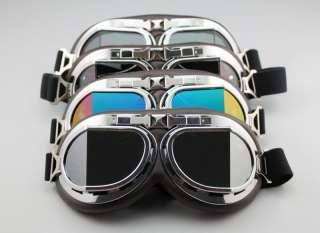 Aviator Pilot Cruiser Motorcycle Scooter ATV Goggle Eyewear T08K Four