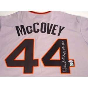 Willie McCovey Signed Uniform   San Francisco Giants521