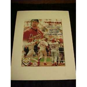 Mark McGwire St. Louis Cardinals Year One with the