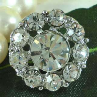 Sparkling Clear Crystal Rhinestone Buttons #S436