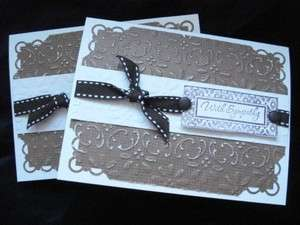 Lot 2 Handmade Sympathy Cards Stampin Up Just Rite