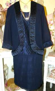 MOTHER OF THE BRIDE Chic BLACK Party DRESS JACKET SET 12