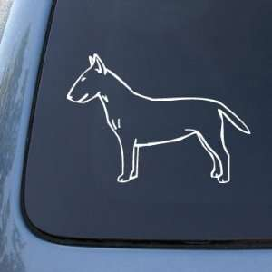 WHITE BULL TERRIER   Dog Vinyl Car Decal Sticker #1569  Vinyl Color