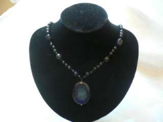 Brighten Color Blue Sand Gemstone Beads Lady Fashion Necklace Gift