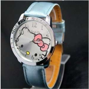 Kitty Classic Ladies Quartz Wrist Watch Blue Color w/ free Hello Kitty