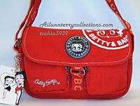 Betty Boop Black Red Canvas messenger sport cross body shoulder hand