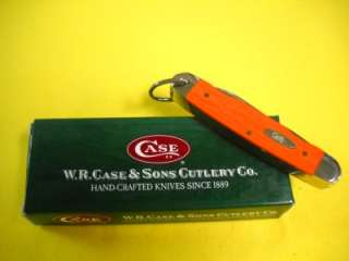 Case XX NEW Orange Jr Scout 6228 Knife