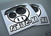 JDM PIG Racing Decal Sticker Subaru Impreza STi WRX CRX