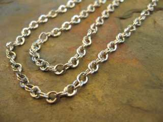 White Gold Open Interlocking Links Style Necklace Chain 18 NEW