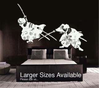 Vinyl Wall Decal Sticker Japanese Samurai Fighter BIG