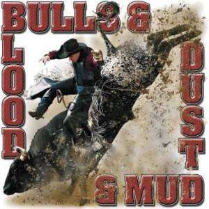 BLOOD BULLS DUST & MUD BULL RIDING T SHIRT RODEO S 3X