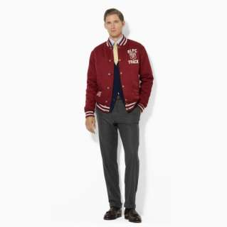 New POLO RALPH LAUREN   Burnham Reversible Wool Varsity Jacket