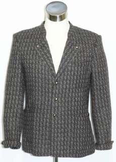 STEINBOCK BROWN Tweed WOOL Men Suit JACKET Coat 46 42 M