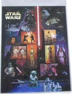 Star Wars +Yoda Stamp Sheets +First Day Issue +15 Cards
