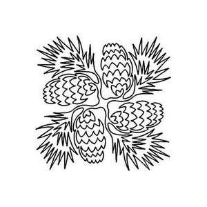 Quilt Stencil Pine Cones   3 Pack Pet Supplies