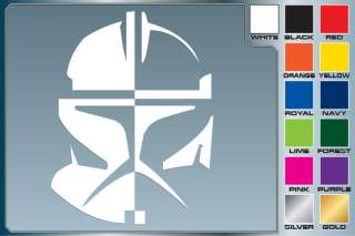 Star Wars CLONE TROOPER Helmet cut vinyl decal #2 Rex