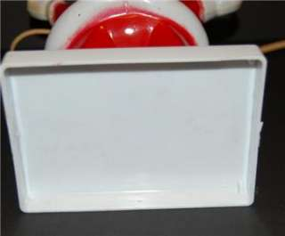 Hard PLastic Lighted Santa Candy Lollipop Holder Container