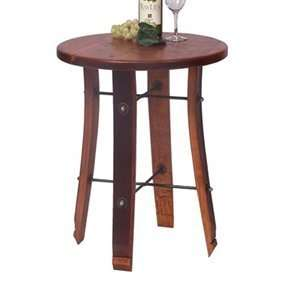 2 Day Designs 4064 009 Round Stave End Table