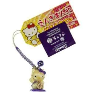 Hello Kitty as a Beckoning Cat (Purple) Mini Figure Bell