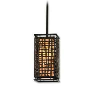 Bronze Energy Star Mini Pendant with Textured Pearl Diffuser 105 41 F