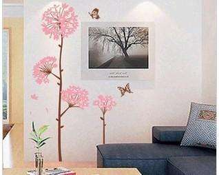 Wall Paper Decal Decor DIY Stickers Romantic flowers A6