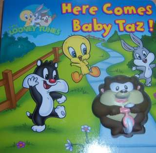 New Looney Tunes Squeeky Book, Tweety, Taz, Bugs Bunny, Baby Shower