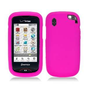 Solid Hot Pink Silicone Skin Gel Cover Case For Pantech