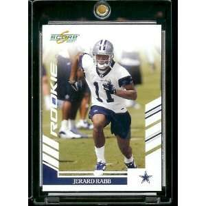 2007 Score # 293 Jerard Rabb   Dallas Cowboys   NFL