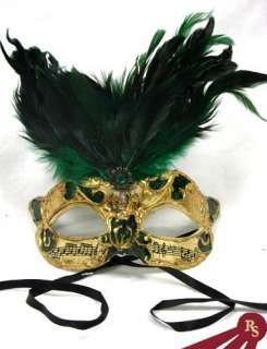 FEATHERED MASK   Masquerade Costume   VENETIAN 092074117043
