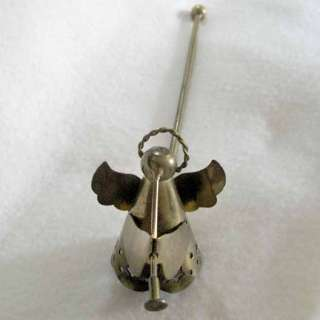 SNUFFER Brass Cone Winged Halo Herald Trumpet Chirstmas Hanukkah