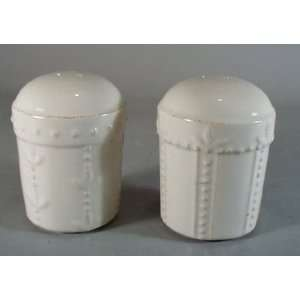 Sorrento Ivory Salt and Pepper Set, Fine China Dinnerware Kitchen
