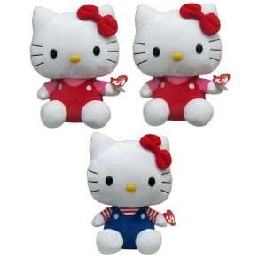 Hello Kitty 9 Plush Blue or Red by TY Beanie Plush