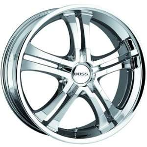 Boss 327 20x8.5 Chrome Wheel / Rim 5x120 with a 14mm Offset and a 82