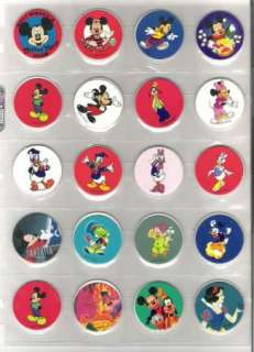 40 Disney Pogs Mickey Mouse Donald Duck Snow White Pinocchio
