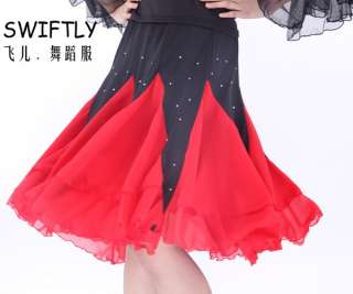 Latin salsa tango Ballroom Dance Dress #M067 skirt
