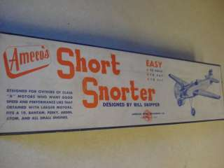 1940S ** AMECO *SHORT SNORTER* CONTROL LINE MODEL AIRPLANE KIT