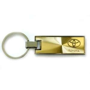Toyota Rectangle Key Chain Gold