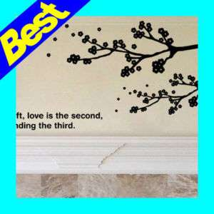 Cherry Blossom Wall Decals Vinyl Home Decor Stickers