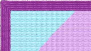 Hello Kitty Rainbow Afghan Blanket CROCHET PATTERN