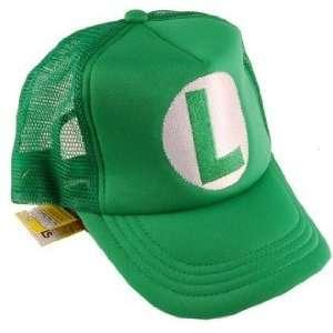 Nintendo Super Mario Trucker Hat Luigi Green Toys & Games
