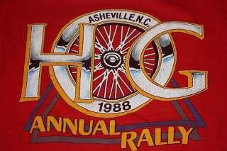 vtg 80s 1988 HOG Harley owners group shirt * BIKER