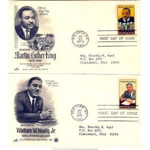 Day Covers, Extra Fine Condition Civil Rights Activists Martin Luther