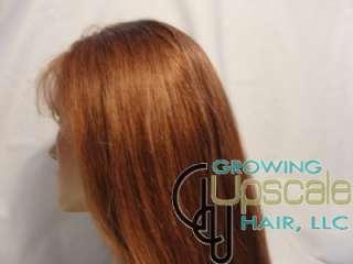 MEDIUM Auburn COLOR full lace wig 16 INCHES straight
