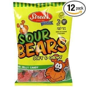 Streits Gummy Bears, Sour, Israeli,7 Ounce (Pack of 12)