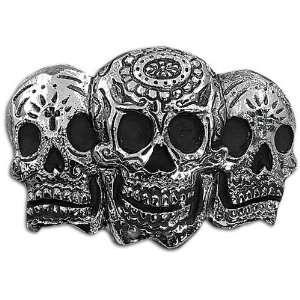 SILVERSTAR 3 Skull Day of the Dead Buckle Sports