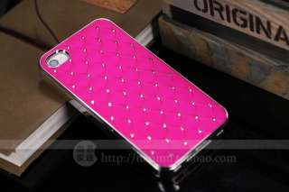 Rose Red Luxury Bling Crystal Star Hard Case Cover+Free Film For