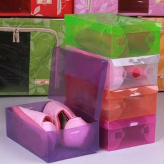 5pcs New Plastic Shoes Storage Organizer Case Box P299