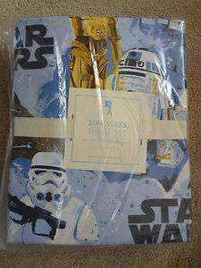 Barn Kids Star Wars A New Hope Sheets 3p Set TWIN Cotton NIP